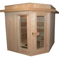 Foto van Azalp Dakrand voor sauna Classic elzen/espen