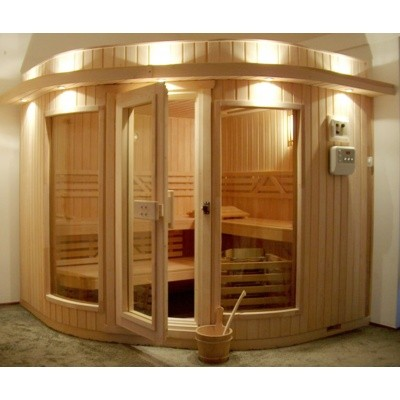 Hoofdafbeelding van Azalp Sauna Runda 237x237 cm elzen