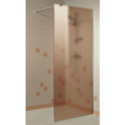 Foto von Hot Orange Duschwand 70x200 cm, matte bronze 8 mm