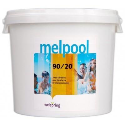 Hoofdafbeelding van Melpool 90/20 kleine Chloortabletten - 5 kg