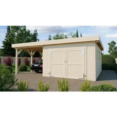 Foto van Azalp Houten Garage Cidro 641x650 cm, 60 mm