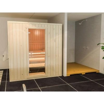 Foto van Azalp Massieve sauna Rio Standaard 196x185 cm, 39 mm
