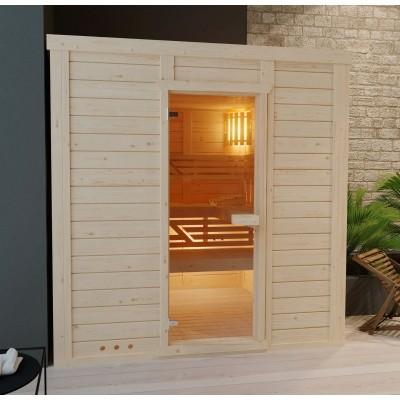 Foto van Azalp Massieve sauna Genio 150x150 cm, 45 mm