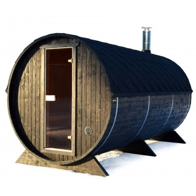 Hoofdafbeelding van Azalp Buitensauna Barrel 207x380 cm in 45 mm