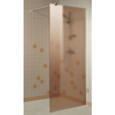Hoofdafbeelding van Hot Orange Douchewand 100x200 cm, mat brons 8 mm