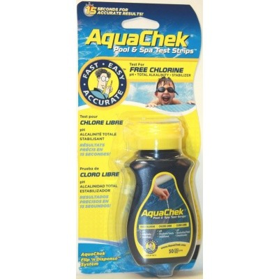 Foto von AquaChek Yellow Pool & Spa Test Strips Free Chlorine