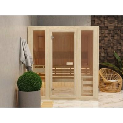 Foto van Azalp Massieve sauna Rio Optic 173x173 cm, 39 mm