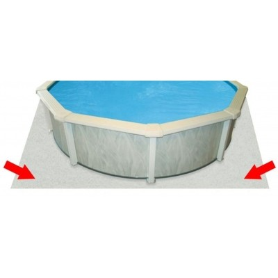 Foto van Azalp Ondertapijt 6,10 x 3,70 m voor opzetzwembaden