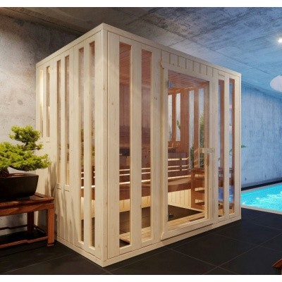 Hoofdafbeelding van Azalp massieve sauna Alku 152x238 cm, 40 mm