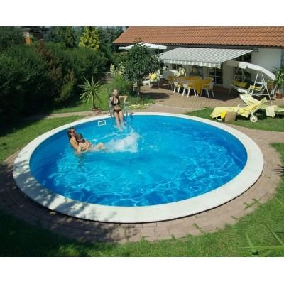 Foto von Trendpool Beckenrandsteine Ibiza 600 weiß (für Rundbecken)