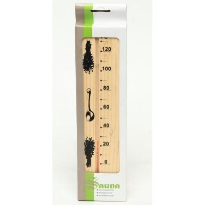 Foto van Ilogreen Thermometer Hout Basic Verticaal