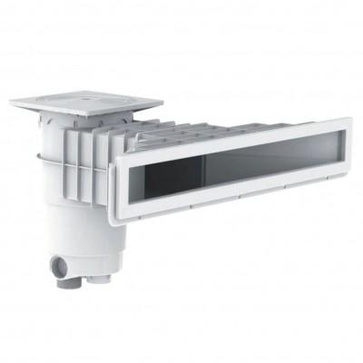 Foto van Weltico A800 wit hoogwaterlijn skimmer beton en liner/folie baden