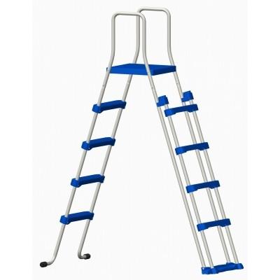 Foto van Blue Ocean Dubbele veiligheidsladder 132 cm