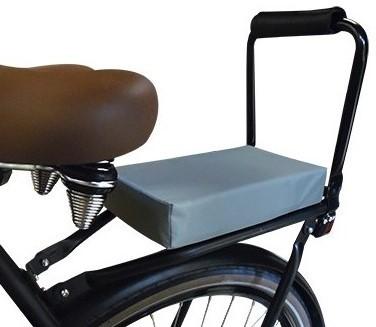 Flo en Zo fietskussen grijs