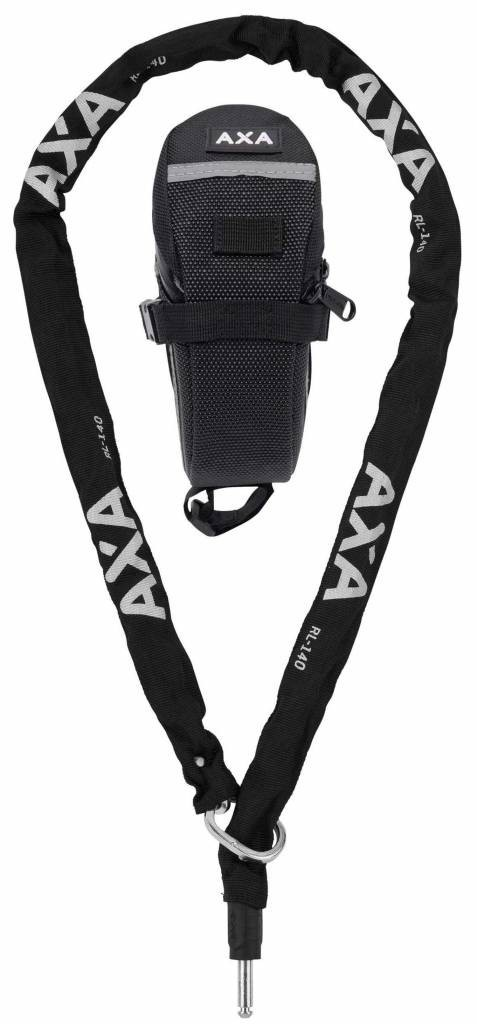 AXA Ketting insteek RLC 140cm 5,5mm met tas zwart