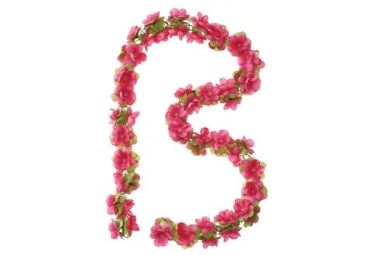 Basil Flower Garland roze bloemenslinger