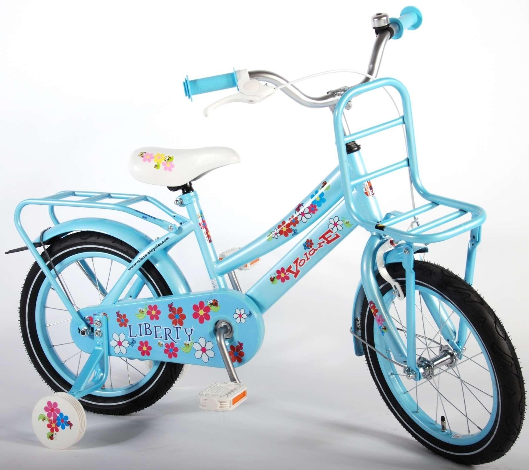 Volare Liberty Urban Flowerie Ice blue 16 inch meisjesfiets 61610