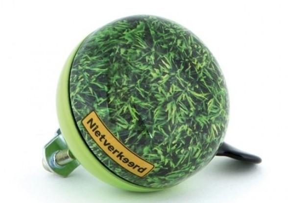 Fietsbel Nietverkeerd 60mm met Gras print