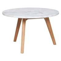 Foto van Side table white stone L