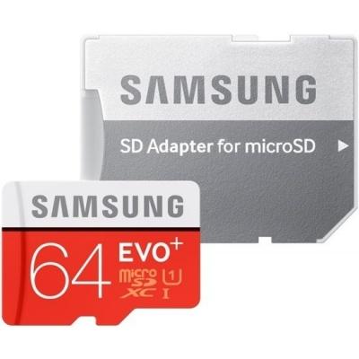 Foto van Samsung 64GB microSD EVO Plus 100MB/s met adapter