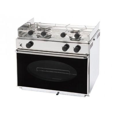 Eno One 2 pits RVS kooktoestel met geëmailleerde oven.