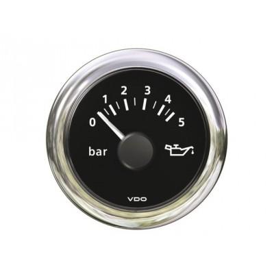 VDO oliedrukmeter 12V zwart 0-25 bar 52 mm
