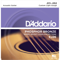 Foto van DAddario EJ26 Phosphor Bronze Custom Light 011-052