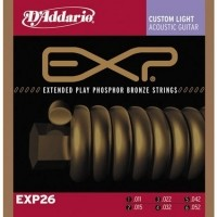 Foto van DAddario EXP26 Coated Strings Phosphor Bronze Custom Light 011-052